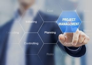 Consultant presentation about project management, planning, time